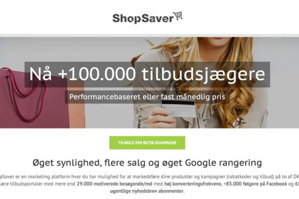 SHOPSAVER.DK – Kampagneplatform til e-shops